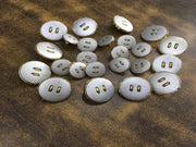 Silver Golden Plain Acrylic Coat Buttons | The Design Cart (3734148612130)