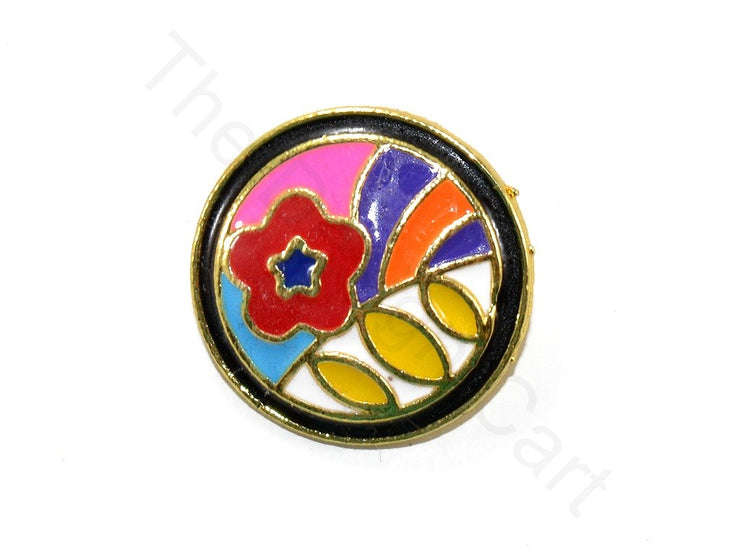 Multicolour Abstract 6 Kundan Buttons