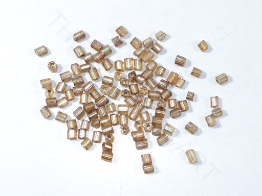 Brown 2 Cut Silverline Beads