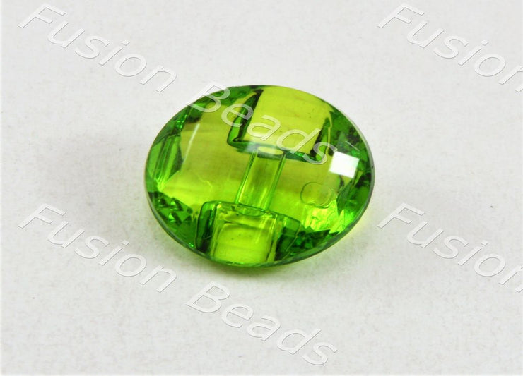 Lime Green Football Crystal Button (375330078754)