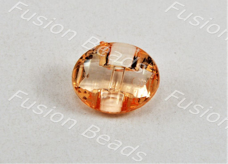 Light Orange Football Crystal Button (375330209826)