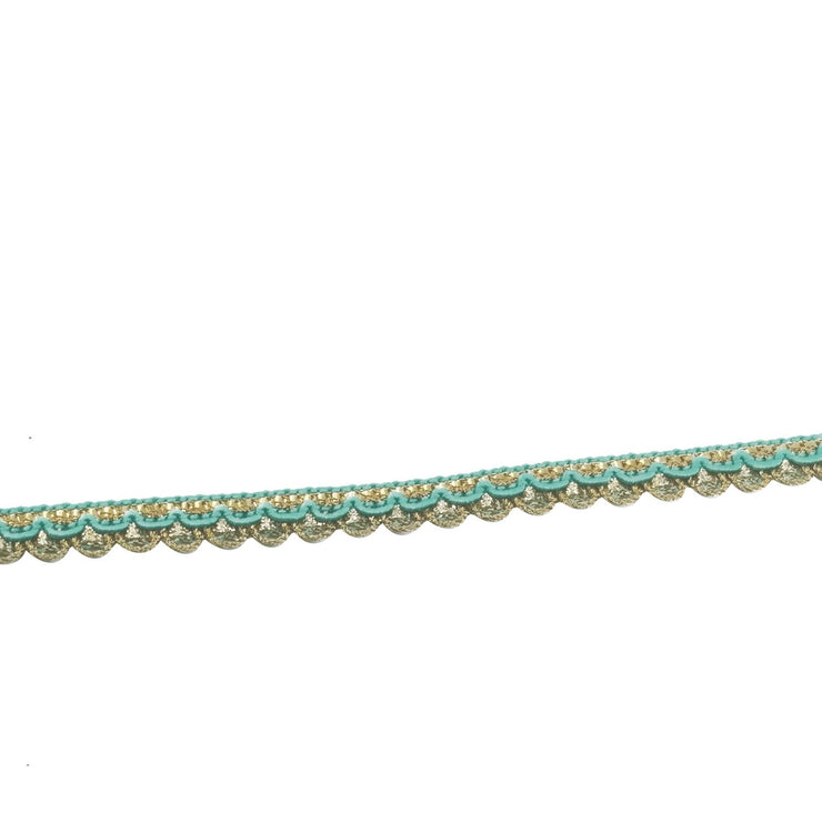 Green Blue Thread Work Embroidered Lace Border (4541740089413)