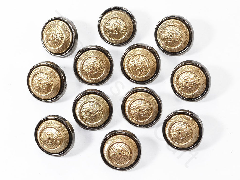 Dull Gold Designer Coat Buttons