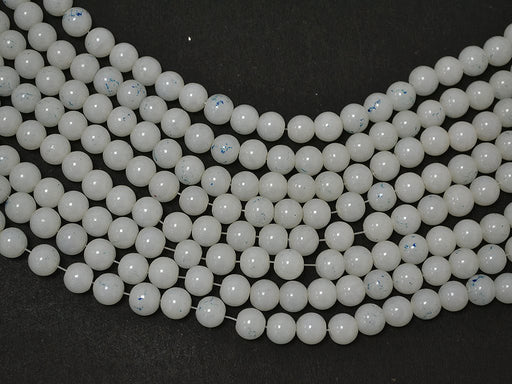White Spherical Glass Pearls