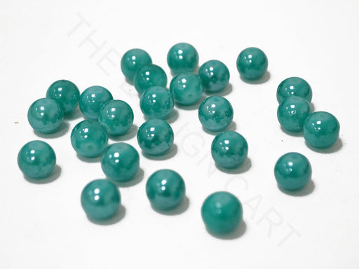 Turquoise Spherical Glass Pearl