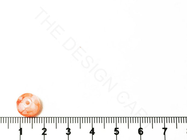 Light Peach Spherical Glass Pearl | The Design Cart