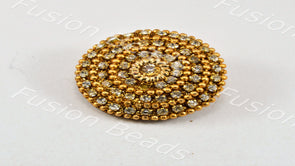 Golden Rings Handcrafted Button
