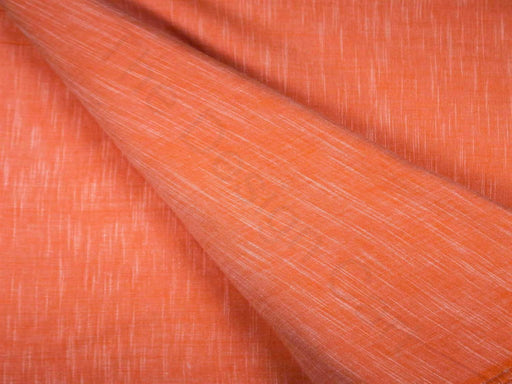 Orange Plain Handloom Cotton Fabric