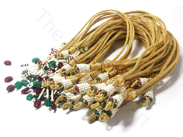 Golden Beaded Thread Dori / Cord | The Design Cart (1869786578978)