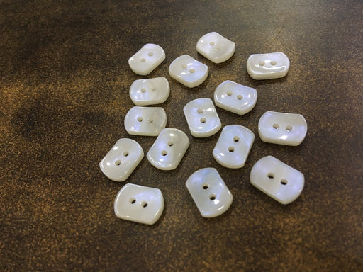 White 2 Hole Square Design 21 Polyester Shirt Buttons