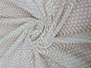 White Dyeable Embroidered Georgette Fabric | The Design Cart