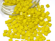 Yellow Brick Shaped Czech Glass Beads | The Design Cart (1722764066850)
