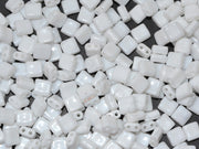 White Brick Shaped Czech Glass Beads | The Design Cart (1722764132386)
