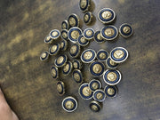 Black Gold Horse Acrylic Coat Buttons | The Design Cart (3734148775970)
