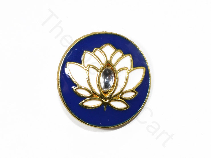 Blue White Design 15 Kundan Buttons | The Design Cart (1719735975970)