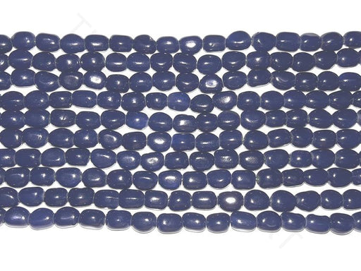 Dark Blue Glass Bead Tumbles