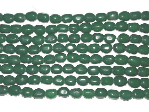 Dark Green Glass Bead Tumbles