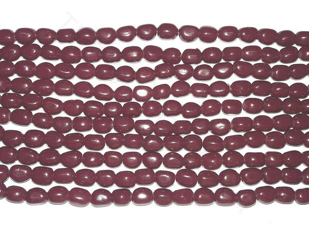 Maroon Glass Bead Tumbles | The Design Cart
