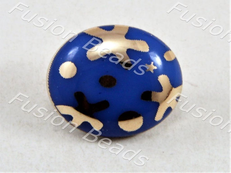 Blue Starfish UV Metallic Finsih Button (376445567010)
