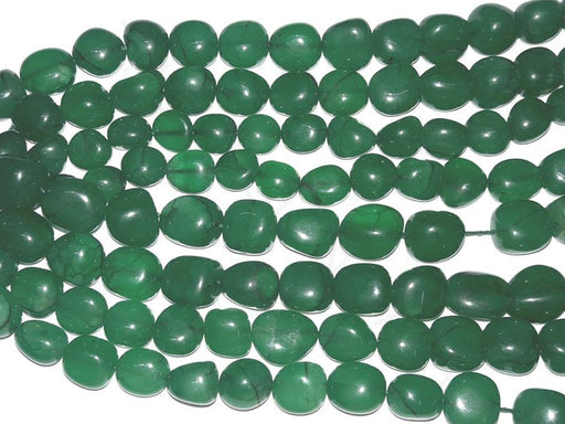 Dark Green Semi Precious Quartz Tumble Beads