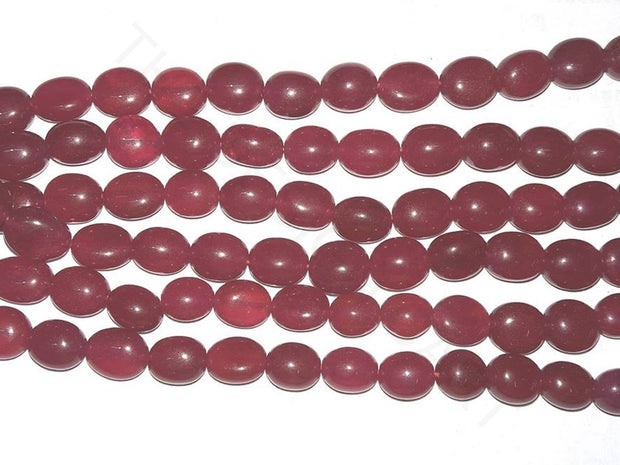 Maroon Red Semi Precious Quartz Tumble Beads | The Design Cart (4333699104837)