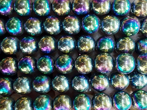 Multicolour Circular Glass Pearls