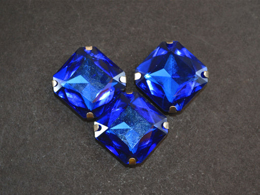 Blue Square Glass Stones with Catcher