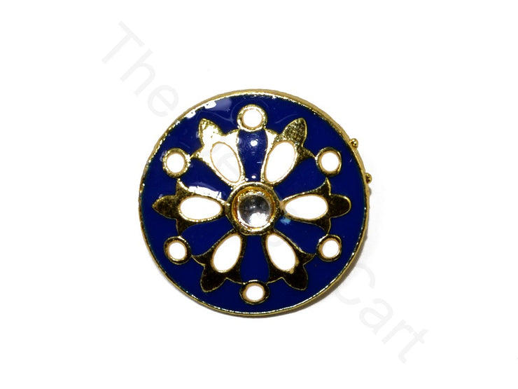Blue White Design 18 Kundan Buttons | The Design Cart (1719736303650)