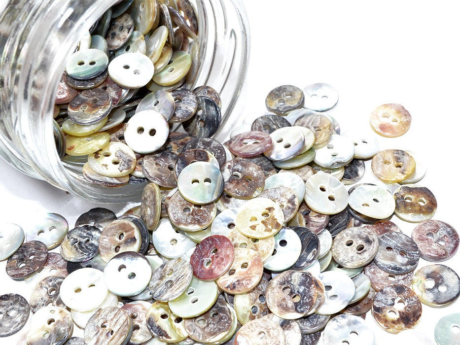 Multicolour 2 Hole Polyester Shirt Buttons