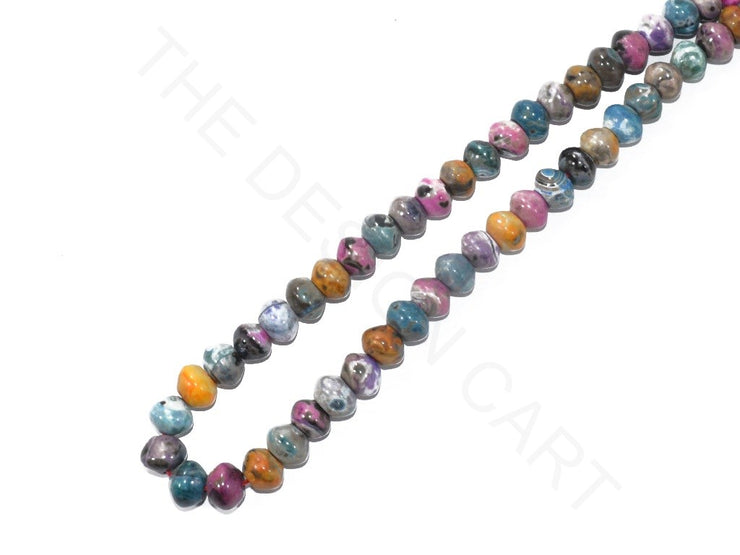 Multicolour Round Faceted Jade Semi Precious Stones | The Design Cart (3785187524642)