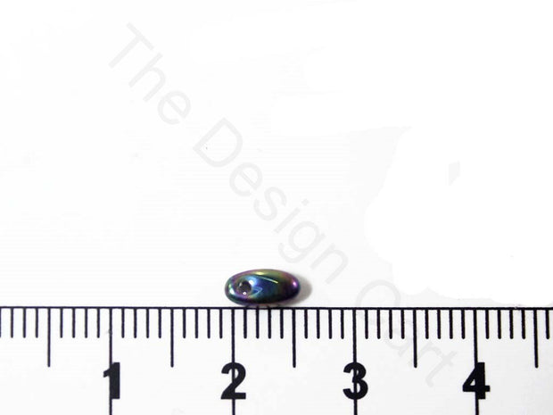 Black Rainbow Rizo Czech Glass Beads | The Design Cart (1695435620386)