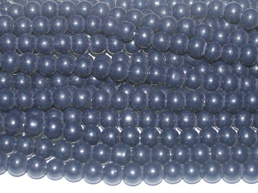 Dark Blue Circular Glass Beads