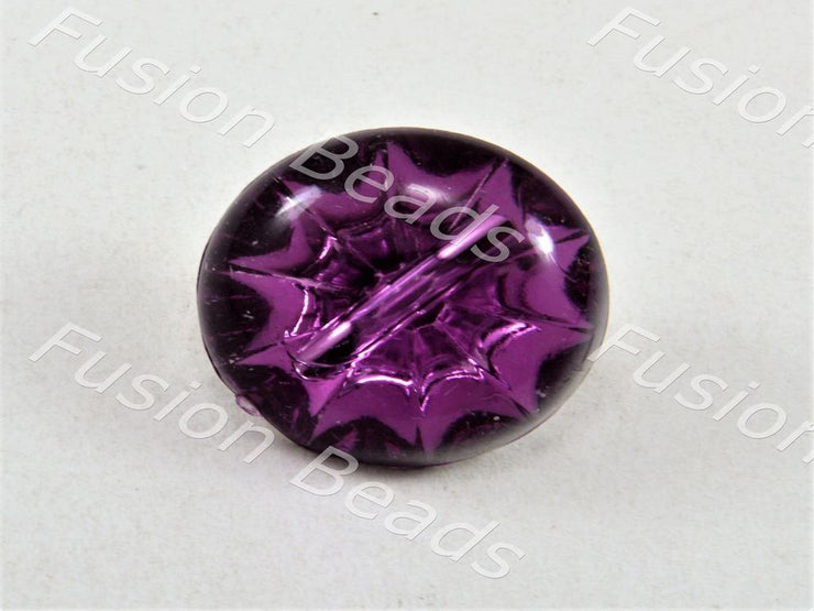 Violet Bulb Crystal Button - The Design Cart (376447303714)