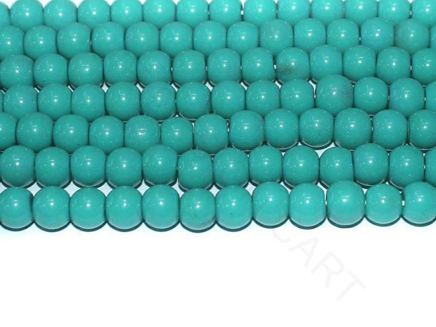 Turquoise Spherical Glass Beads | The Design Cart