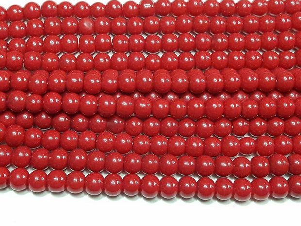 Maroon Spherical Glass Beads | The Design Cart