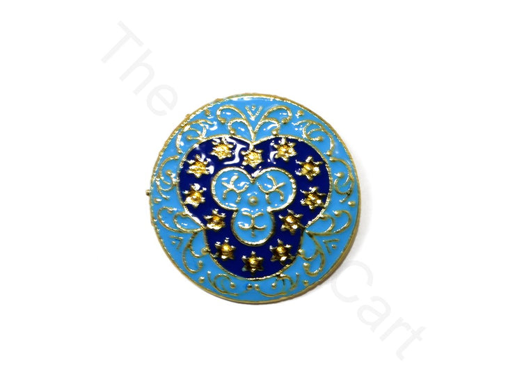 Light Blue Design 21 Kundan Buttons | The Design Cart (1719736598562)