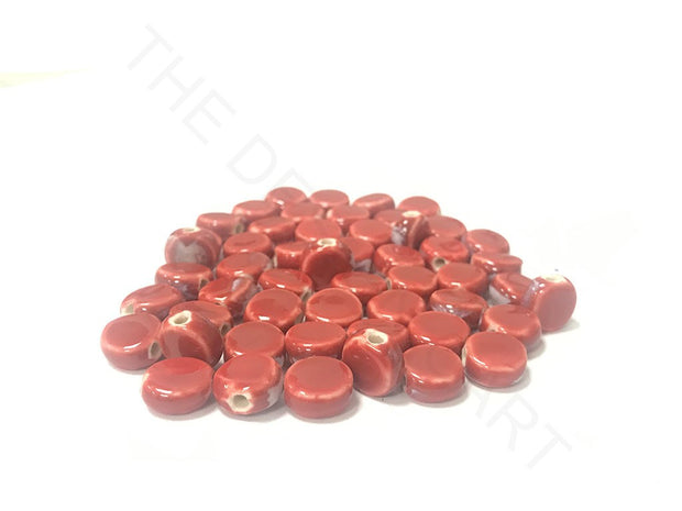 Red Disc Spherical Ceramic Beads (4323287564357)