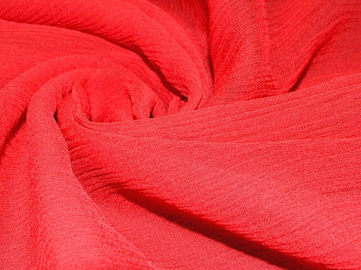 Red Poly Chiffon Fabric