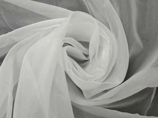White Dyeable Organza Fabric