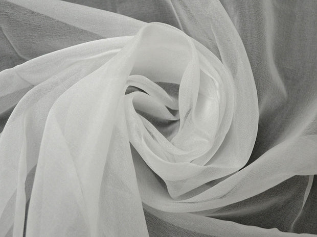 White Dyeable Organza Fabric | The Design Cart