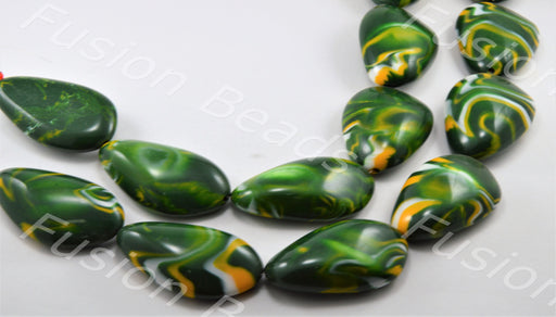 Green Oval Ceramic Stone