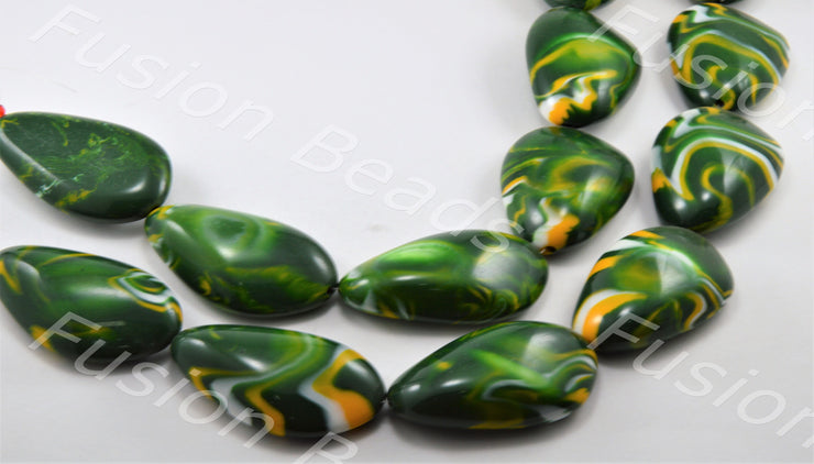Green Oval Ceramic Stone (11366007891)