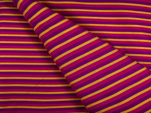 Magenta Purple Stripes Cotton Fabric