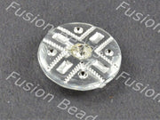 White Crystal Buttons With Glass Stone (369915428898)