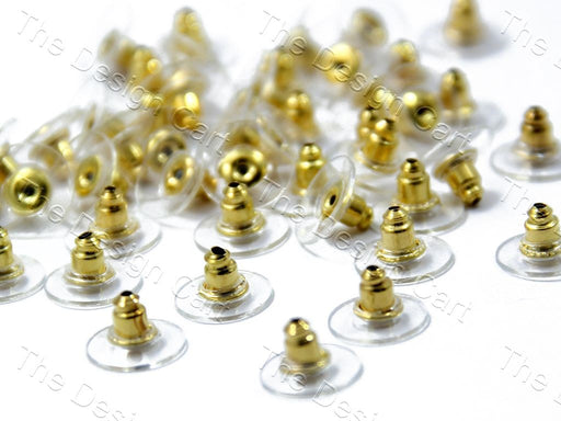 Golden Transparent Earring Post Studs