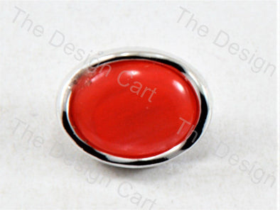Red Round Pearl Designer Button