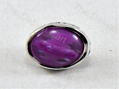 Purple Round Pearl Designer Button
