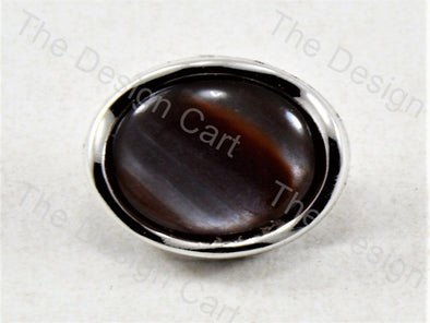Black Brown Round Pearl Designer Button