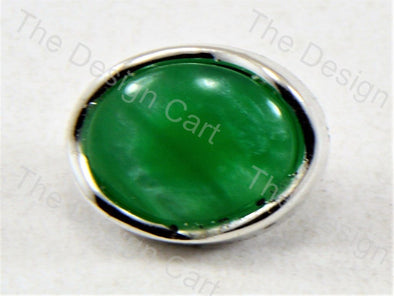 Dark Green Round Pearl Designer Button