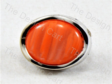 Orange Round Pearl Designer Button